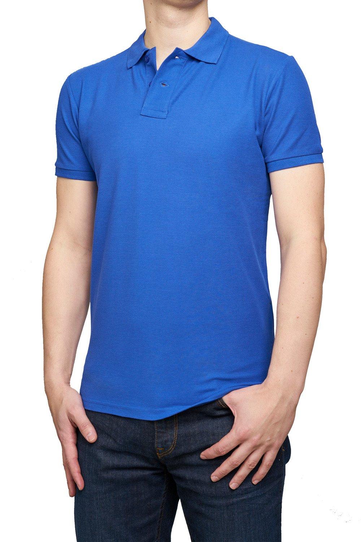 D&H MEN polo shirt royal blue