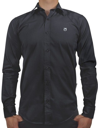 Kedar shirt slim fit black with logo